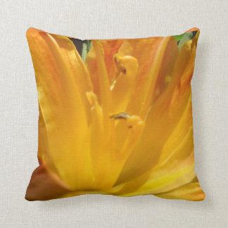Yellow Orange Tiger Lily Throw Pillow