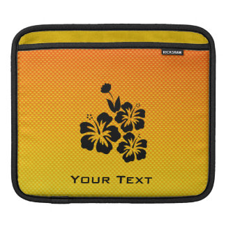 Yellow Orange Tropical Flowers iPad Sleeve