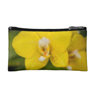 Yellow Orchid Accessory Bag