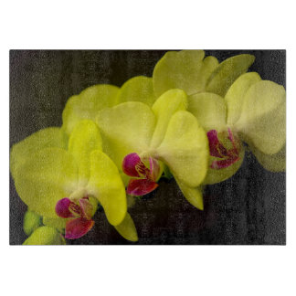 Yellow Orchid - Decorative Glass Cutting Boards