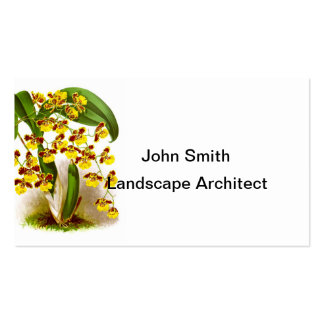 Yellow Orchid Flowers no. 6 Tropical Home Decor Business Card Template