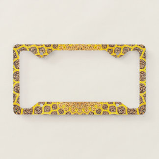 Yellow Orient Pattern License Plate Frame