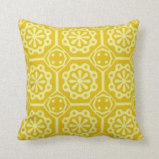 Yellow Ornament Pattern Pillow