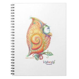 Yellow owl notebook