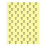 Yellow owl pattern full colour flyer