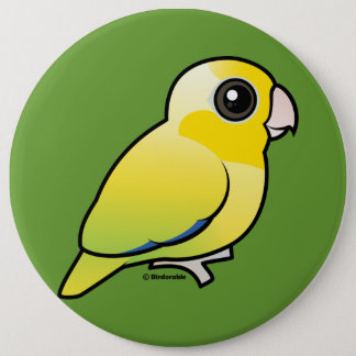 Yellow Pacific Parrotlet 6 Inch Round Button