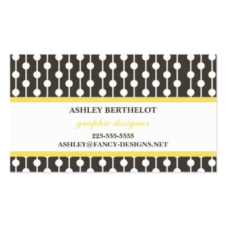 Yellow Pack Of Standard Business Cards