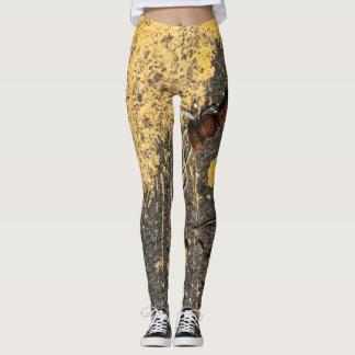Yellow Paint and Iron Scraps Leggings