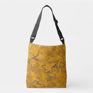 Yellow Painted Stars Crossbody Bag