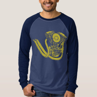 Yellow Panhead with Pipes T-Shirt