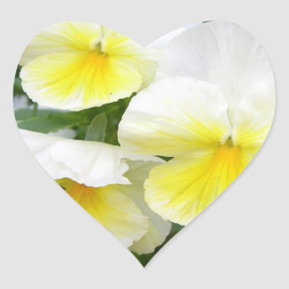 Yellow Pansies Stickers