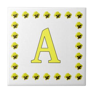 Yellow Pansies Tile