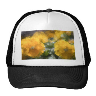 Yellow Pansies Trucker Hat