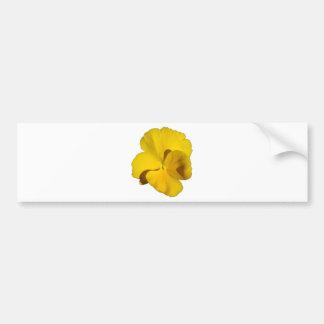 Yellow Pansy 201711f Bumper Sticker