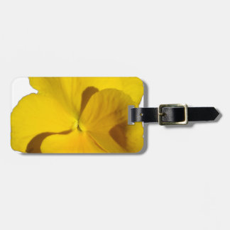 Yellow Pansy 201711f Luggage Tag