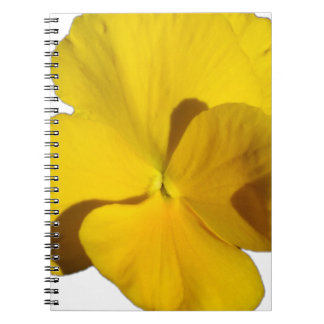Yellow Pansy 201711f Spiral Notebook