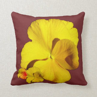 Yellow Pansy EDITABLE Throw Pillow