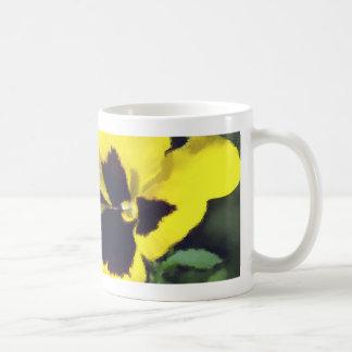 Yellow Pansy Flowers Coffee Mug