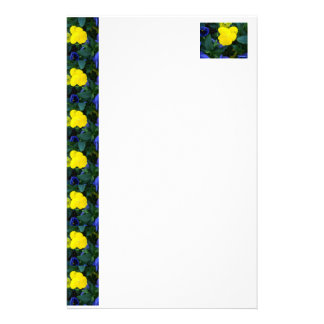 Yellow Pansy Spring Flowers Floral Stationery