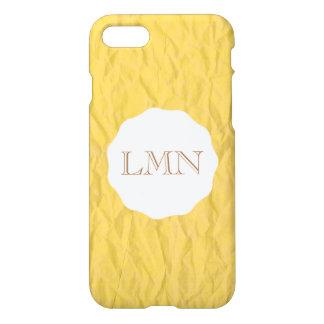 Yellow Paper Monogram Phone Case -- Customizable