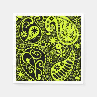 yellow paper napkin