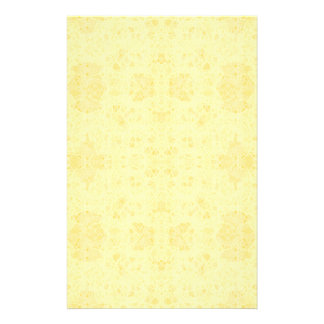 yellow paper personalized stationery