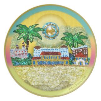 Yellow Paradise Bondi Beach Australia Plate