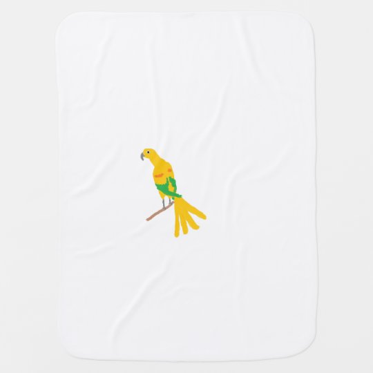 Yellow parrot swaddle blanket