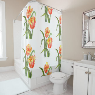 Yellow Parrot Tulips Shower Curtain