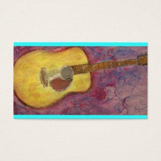 yellow patina acoustic guitar business card