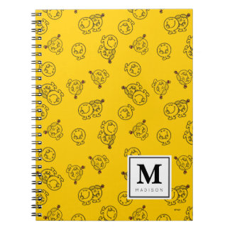 Yellow Pattern | Add Your Name Spiral Notebooks