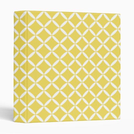Yellow Pattern Binder