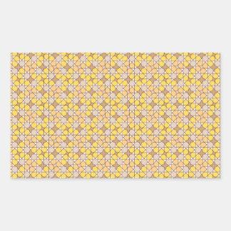 yellow pattern rectangle sticker