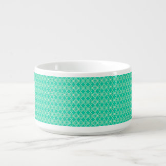 Yellow Pattern with Green Background Chili Bowl