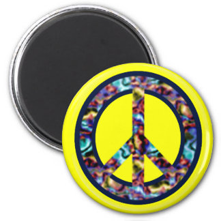 Yellow Peace Magnet