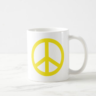 Yellow Peace Sign Coffee Mug