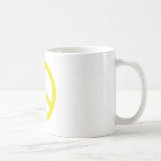 YELLOW PEACE SIGN :-) COFFEE MUGS