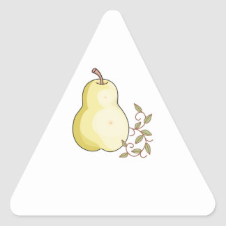 YELLOW PEAR TRIANGLE STICKERS