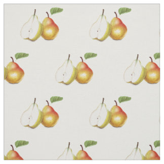 Yellow pears fabric