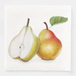 Yellow pears paper napkins