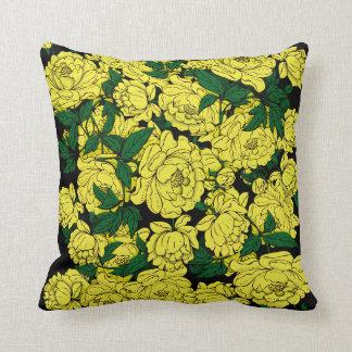 Yellow Peonies Throw Pillow