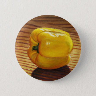 Yellow Pepper 2 Inch Round Button