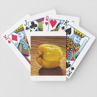 Yellow Pepper Bicycle Playing Cards