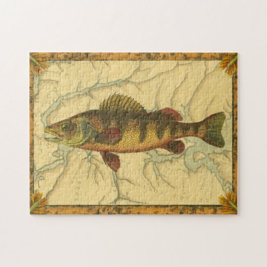 Yellow Perch on Map Jigsaw Puzzle