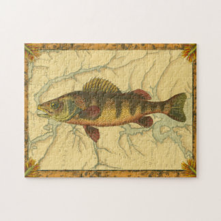 Yellow Perch on Map Puzzle