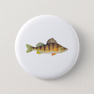 Yellow Perch (untitled) 2 Inch Round Button