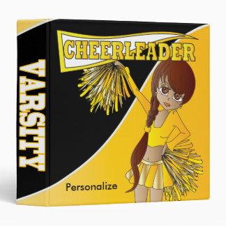 Yellow Personalize Diva Cheerleader Vinyl Binder