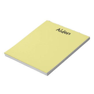 Yellow Personalized Notepad