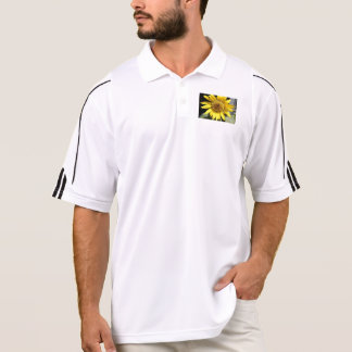Yellow petals of a large sunflower polo shirt