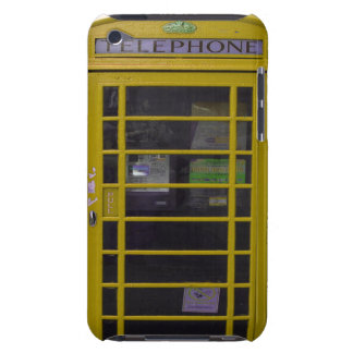 yellow phone booth iPod touch cases